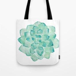 Watercolor Succulent print in seafoam green Tote Bag