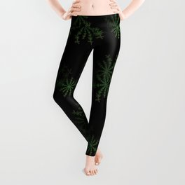 Neon black star pattern Leggings