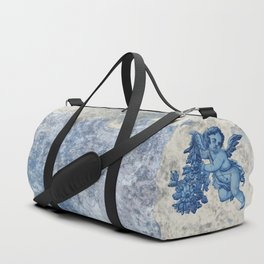 Antique Angel with flowers Duffle Bag