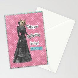 Quit your gnashgabbing fustilugs handcut collage Stationery Cards