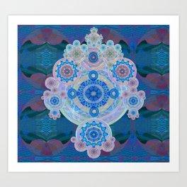 Boujee Boho Violet Glow Medallion Art Print