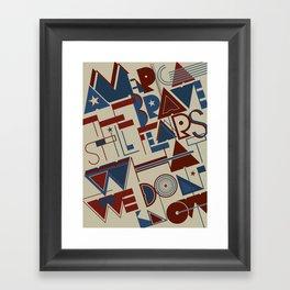 America the Brave Framed Art Print