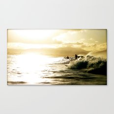 Surf Sunset Canvas Print