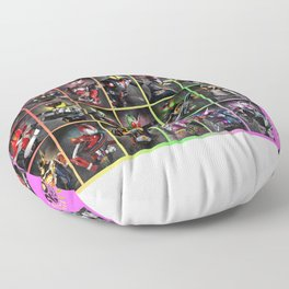 Kamen Rider Heisei Era Main Riders 20th Anniversary Floor Pillow