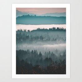 Layers upon Layers Art Print
