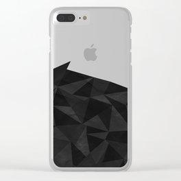 Dirty Dark Geo Clear iPhone Case