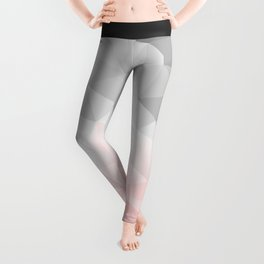 pink and gray geometric low poly background Leggings