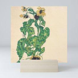 """Egon Schiele """"Sonnenblumen"""" Mini Art Print"""