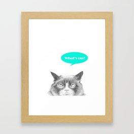 Peekaboo, I see you! Framed Art Print