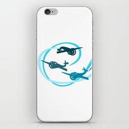 Blue Aerobatic Planes iPhone Skin