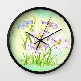 Carmen Renee Day Lilies Wall Clock