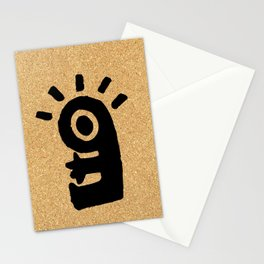 cork paper character Stationery Cards