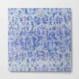 Snowflower Pale Blue Metal Print