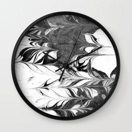 Marble Suminagashi 3 watercolor pattern art pisces water wave ocean minimal design Wall Clock
