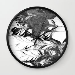 Marble Suminagashi 3 watercolor pattern art pisces water wave ocean minimal design Wall Clock