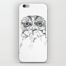 Grumpy Feathers iPhone & iPod Skin