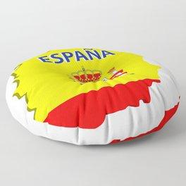 Spain map Floor Pillow