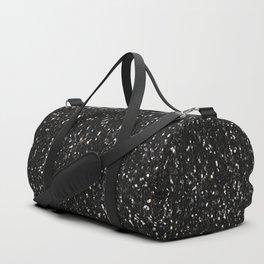 Black and white shiny glitter sparkles Duffle Bag