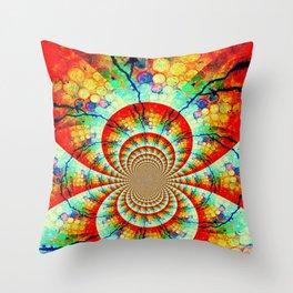 Fractal Suns Converging Throw Pillow