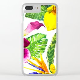 Lovly Flowers Clear iPhone Case