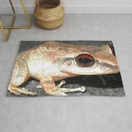Watercolor Frog, Coqui Frog 01, St John, USVI, Iridescent Shimmer Rug