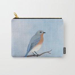 female eastern bluebird portrait Carry-All Pouch