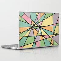 stained glass Laptop & iPad Skins featuring Stained Glass by Tammy Kushnir