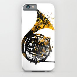 french horn music art #music iPhone Case