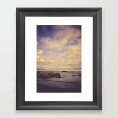 Her Dreams Stretched as Far as the Sea Was Wide Framed Art Print