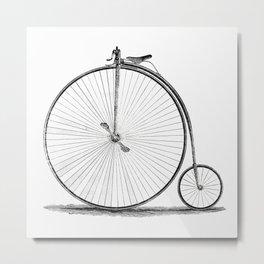 Penny-farthing. Metal Print