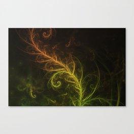 Fractal Hybrid of Guzmania Tuti Fruitti and Ferns Canvas Print