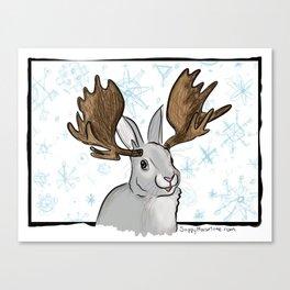 Winter MooseBunny Canvas Print