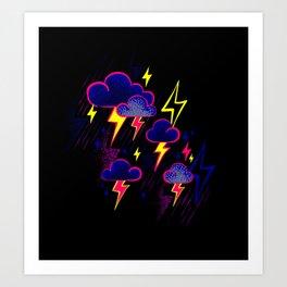 Lightning Storm Art Print
