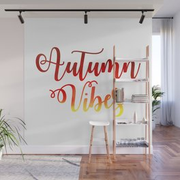Autumn Vibes Watercolor Wall Mural