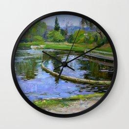 Morning park Wall Clock