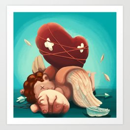 I killed Cupid Art Print