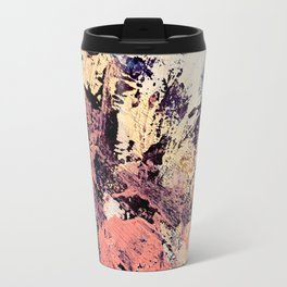 Brilliance: vibrant, colorful and textured in purple, gold, pink, blue, and white Travel Mug