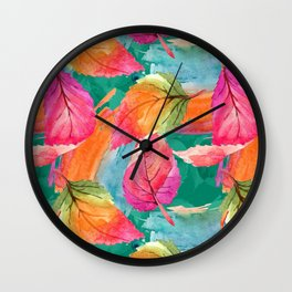 Colorful watercolor flowers No3 Wall Clock