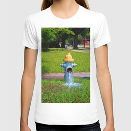 Fire Hydrant Gushing Water T-shirt