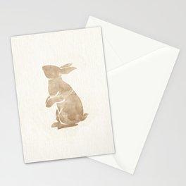 Bunny Rabbit - Pastel Brown Nursery Print Stationery Cards