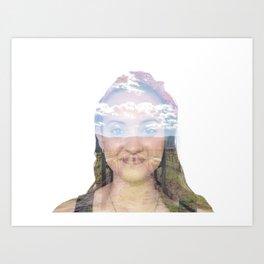 Thinking of you: Ann Art Print