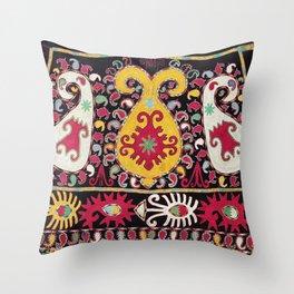 Lakai Tribal Nomad Antique Uzbekistan Horse Cover Throw Pillow
