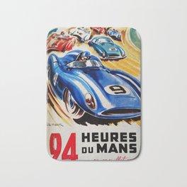Le Mans poster, 1956, race poster, t shirt Bath Mat