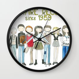 Empire Records cast fan Art Wall Clock