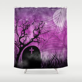Hallow In Pink Shower Curtain
