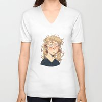 luna lovegood V-neck T-shirts featuring Luna Lovegood by Naïs Quin