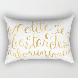 Don't Let the Bastards Grind You Down - Faux Gold Foil Rectangular Pillow