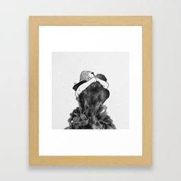 Impressive hug. Framed Art Print