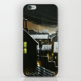 Rainy night in the factories iPhone Skin