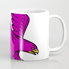 Peregrine Falcon Swoop Mono Line Coffee Mug